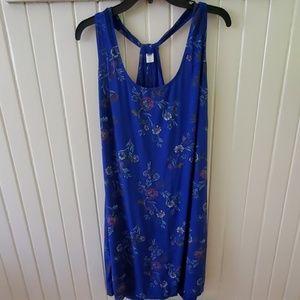 0ld navy foral sleeveless dress sz xl euc